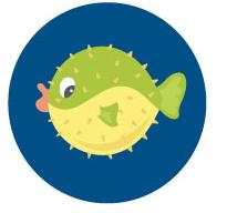 Pufferfish - 5 years and up (Beginner)